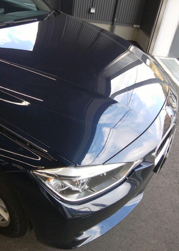 BMW納車直前のボンネット