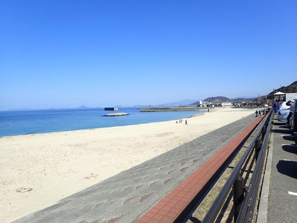 ふたみ公園の砂浜