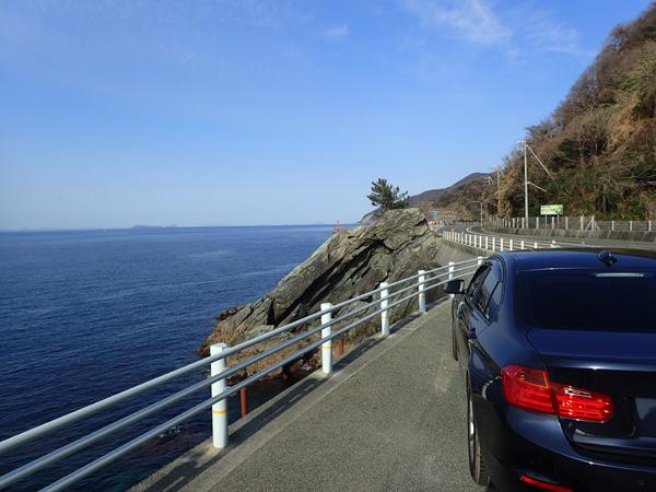 佐田岬半島とBMW