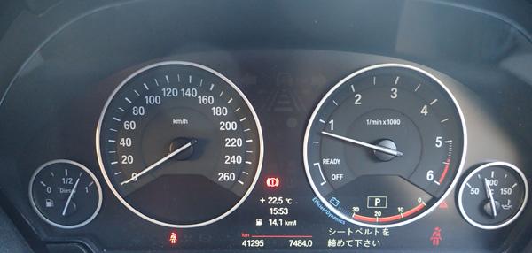 BMW320dのタコメーター