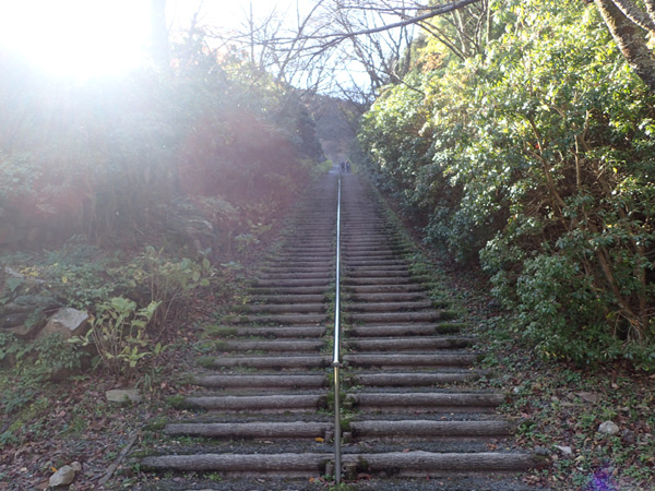 インクライン跡を利用した220段の階段