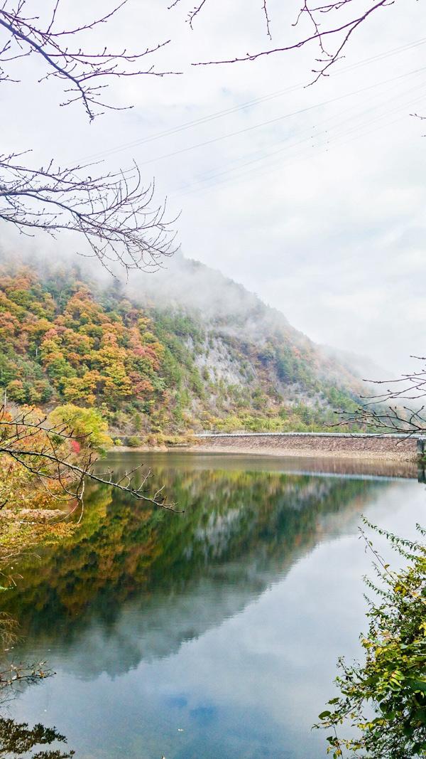 銚子ダムの紅葉2018