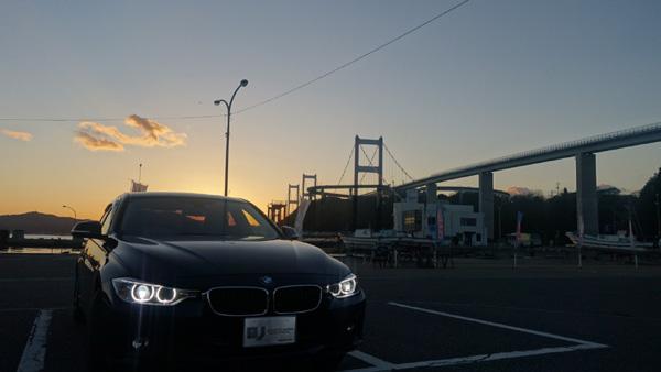 来島海峡大橋とBMW320d
