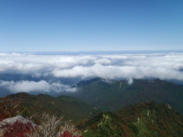 石鎚山の雲海