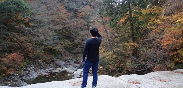 御来光の滝登頂ルート