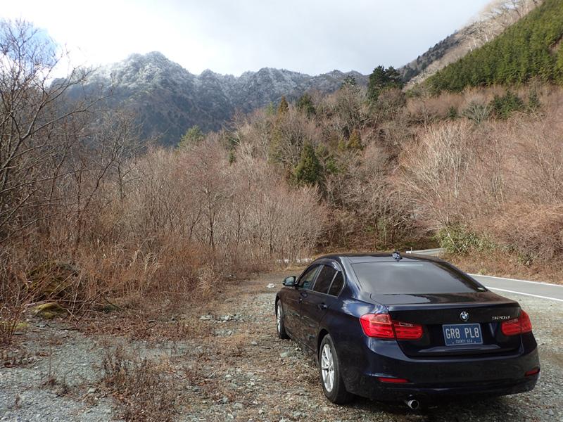 BMW320dと伊予富士