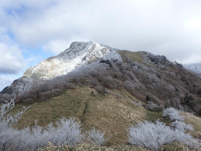 寒風山の積雪