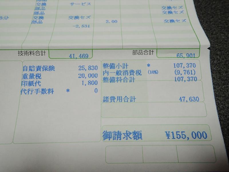 BMW320dの車検費用