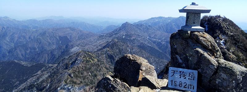冬の石鎚山登頂