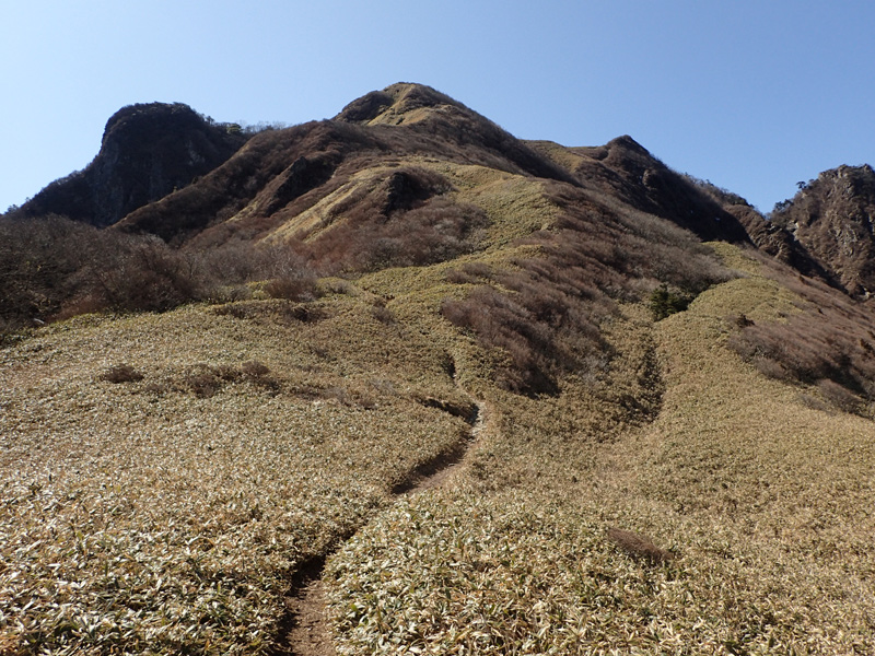 伊予富士最後の急斜面