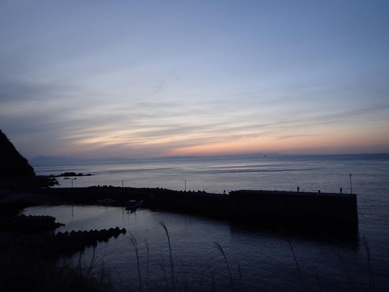 佐田岬長浜漁港全景