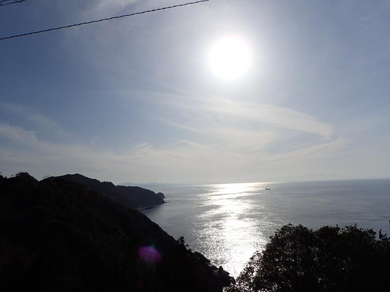 佐田岬の夕日と釣り