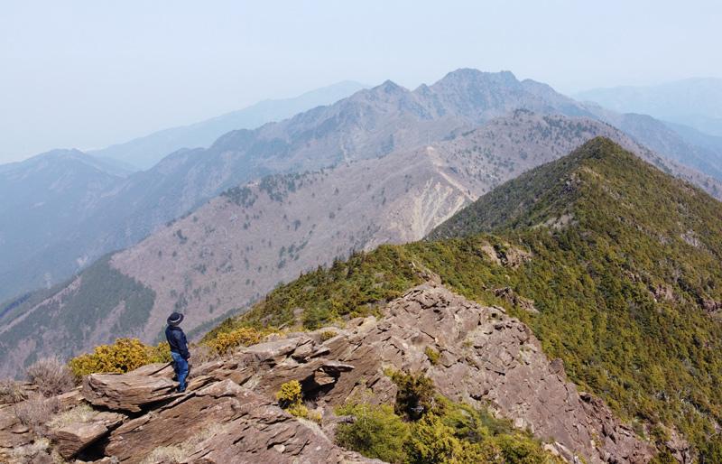 東赤石山山頂付近