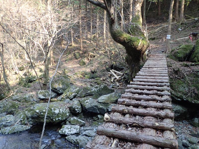 瀬場谷出合にかかる橋