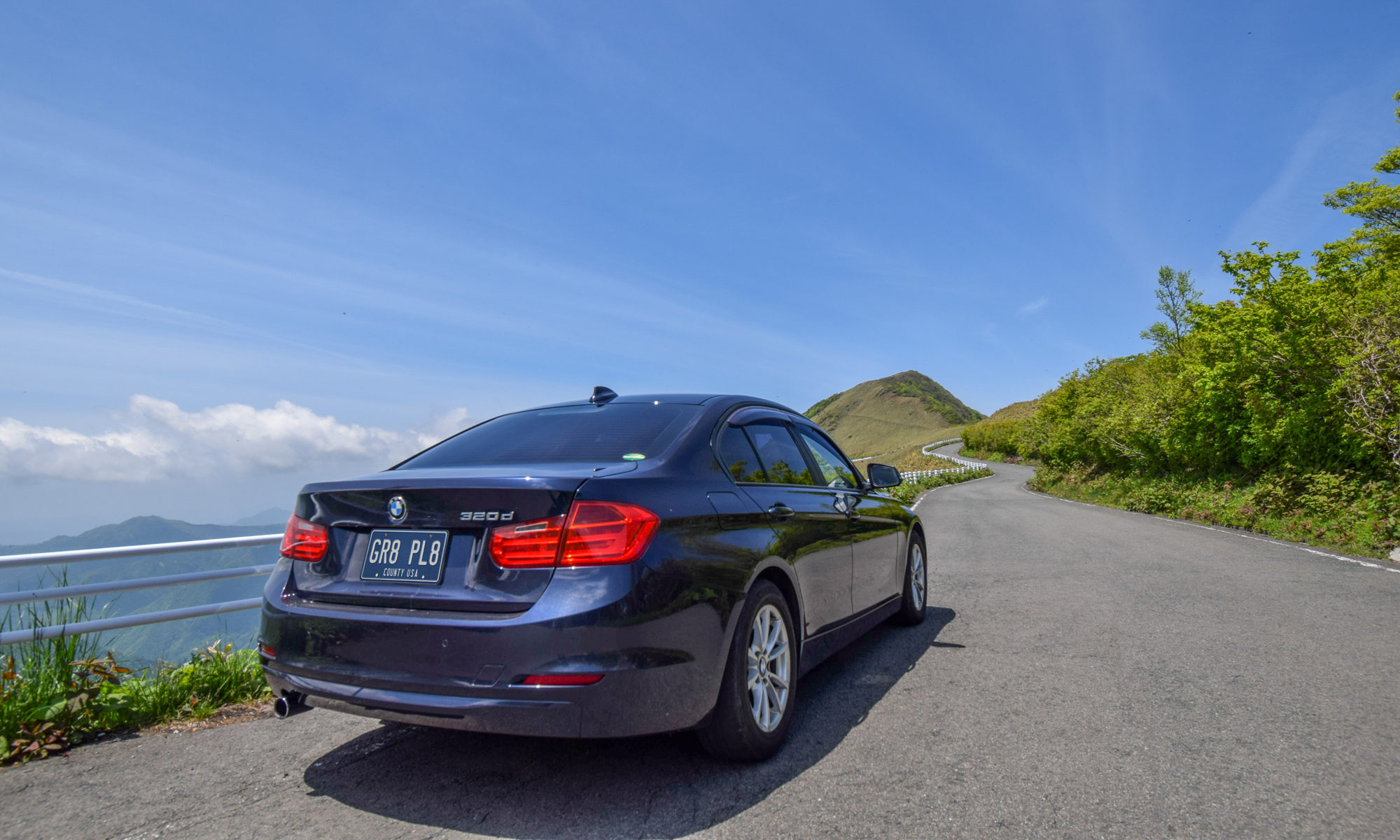 BMWと愛媛の風景